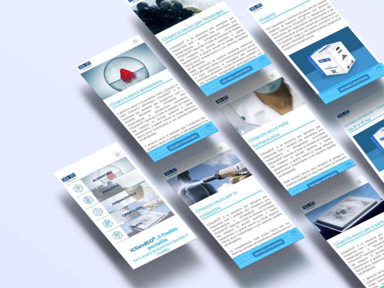 web sito internet ICEandGO ghiaccio secco SIAD