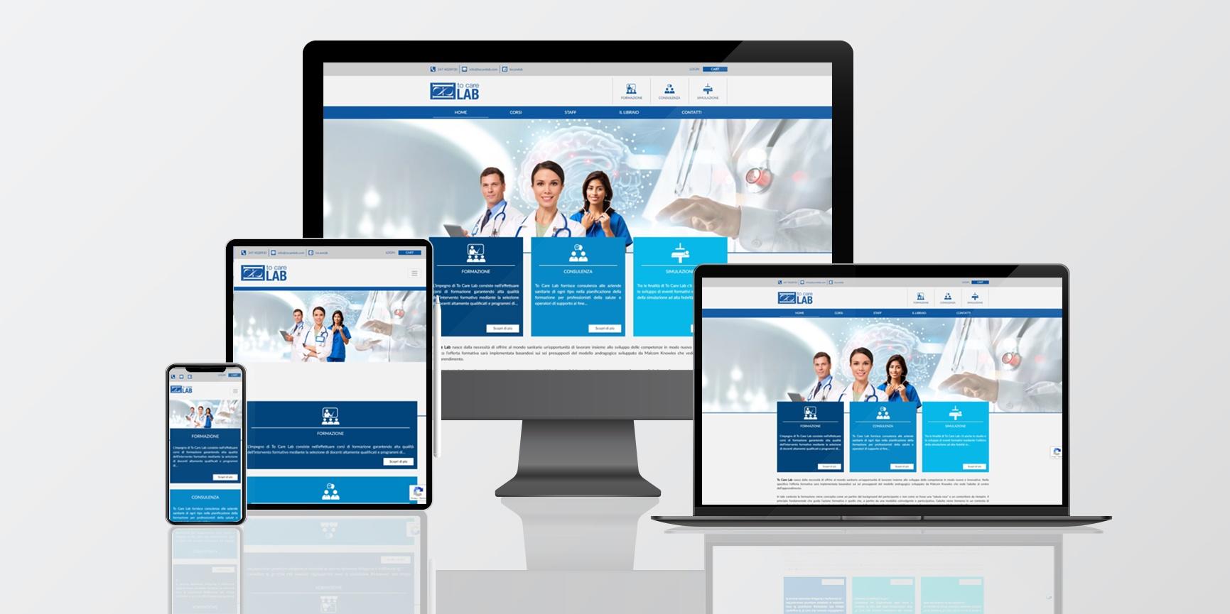 web sito internet to care lab consulenza formazione corsi sanità