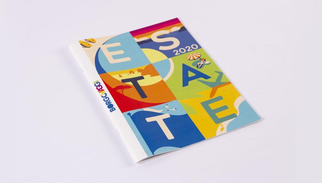 grafica catalogo borgoviaggi illustrazioni layout design
