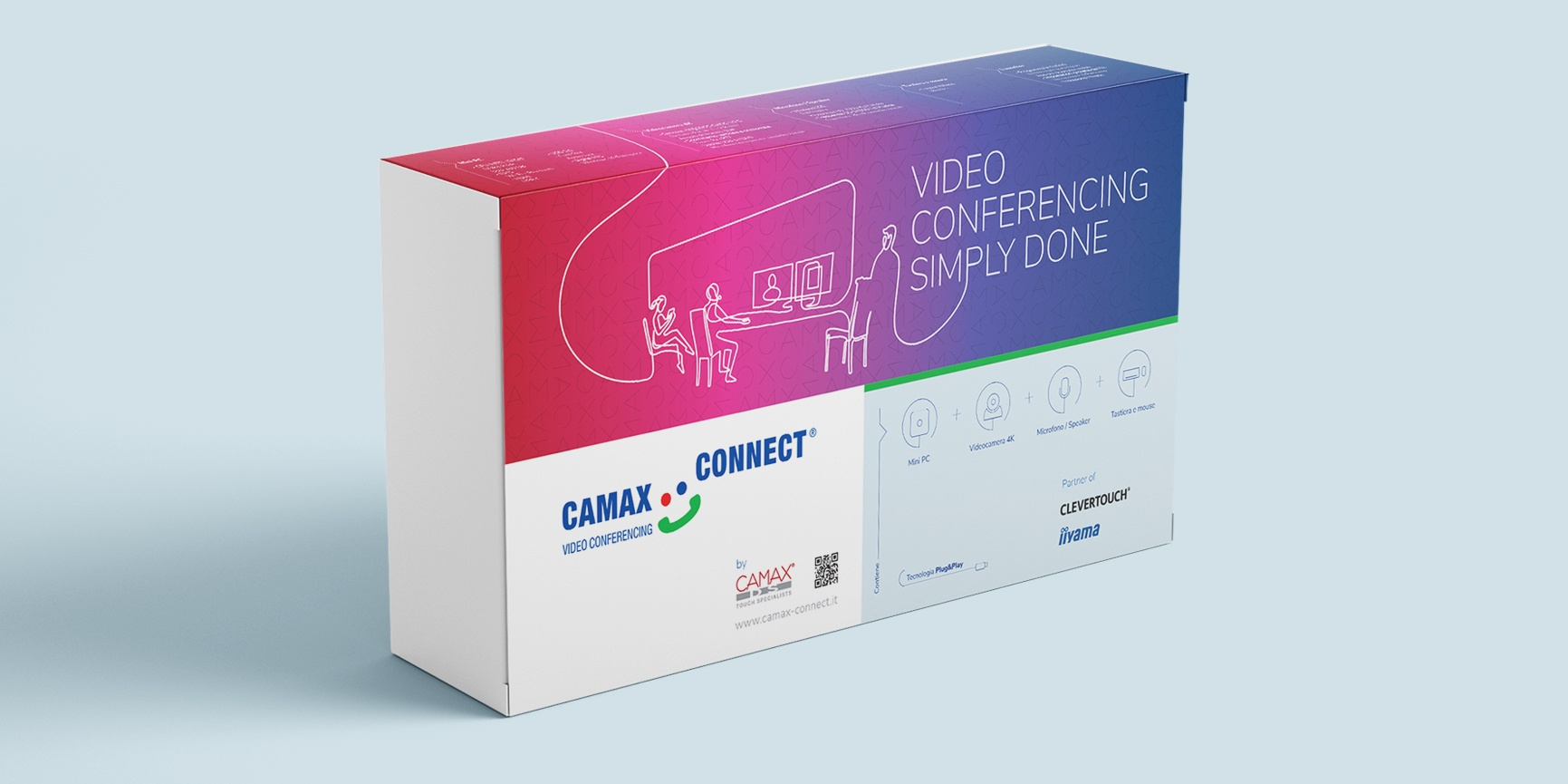packaging brand manual confezione camax connect
